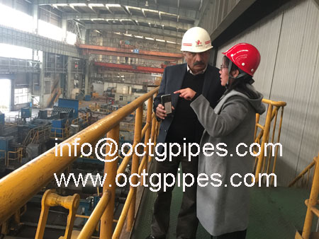 customer-visit-steel-coil-production-line